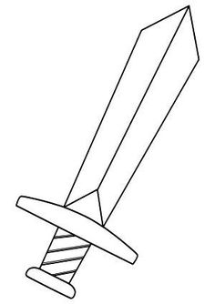 Whether you want to make a knight sword or just looking for a coloring page, this template can be used in many ways. Bible Activities, Activities For Kids, Crafts For Kids, Dragon Birthday, Dragon Party, Sword Craft, Castle Party, Roi Arthur, Medieval Party