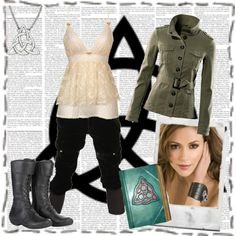 Phoebe Halliwell by hannah-banana on Polyvore featuring H&M, Alpinestars, Polaroid, witch, cami, charmed, book of shadows, phoebe halliwell, triquetra and alyssa milano