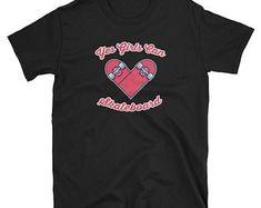 Girl Skateboard T Shirt Awesome Yes Girls Can Skateboard Tee, skateboarding tee shirts, skateboard clothing, skateboard apparel Skateboard Shirts, T Shirts, Mens Tops, Shopping, Fashion, Tee Shirts, Moda, Fashion Styles, T Shirt