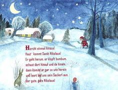 Horcht einmal hinaus Winter Vorweihnachtszeit Reim Nikolaus Gedicht Kindergarten Erzieherin