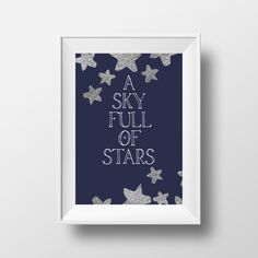 A Sky Full of Stars Art Print | Downloadable Art Print by CheerLoveCo on Etsy