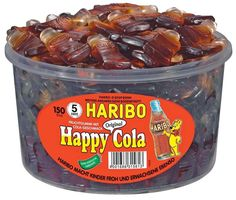 Haribo Original Happy Cola, 150 pcs ** Check this awesome product by going to the link at the image. Fun Baking Recipes, Candy Recipes, Gourmet Recipes, Dog Food Recipes, Dessert Recipes, Candy Brands, Weird Food, Baking Ingredients, Makeup Products