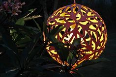 The classic Floral light by David Trubridge - Available in a range of colours and sizes from Firefly Light & Design, Auckland (Freight free across NZ)