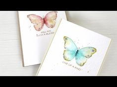 ▶ Watercolor Stamping: Easy Butterflies - YouTube. Wplus9 Design. Great tutorial! Could maybe try this with the Rubbernecker watercolor butterfly stamp?