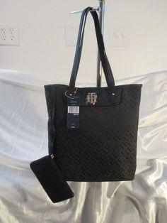 Bag Handbag Purse Tommy Hilfiger Color Black NS Tote 6932752 990 Brand New Tags #TommyHilfiger #Totes