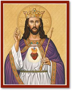 The Christ the King Icon reminds us of the one true King. Find these and other icons of Christ at Monastery Icons today. Christ The King, King Jesus, Jesus Is Lord, Religious Images, Religious Icons, Religious Art, Catholic Art, Catholic Saints, Croix Christ