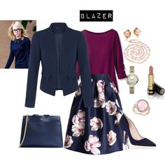 NAVY BLAZER by lazzzybum on Polyvore featuring Chicwish, Kate Spade, A.P.C., Chanel, Allurez, Bulova, Aesa and Gucci