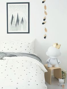 Tricky Triangle duvet set by Frankie and Frenchie
