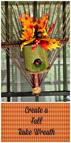 Fall Rake Wreath www.Gardenchick.com