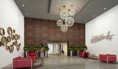 décoration hall d'entrée entreprise