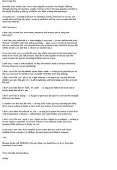 A Daddy's Letter To His Little Girl (About Her Future Husband) - Imgur