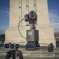 Syrp Genie working with Edelkrone Slider Plus + Sony A7R via Infrared cable.