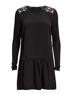 Maison Scotch Feminine woven, lace and jersey mixed dress