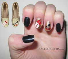 We can get our nail design inspiration from anywhere in this beautiful world, including the famous i Chiara Ferragni Shoes, Get Nails, Touch Of Gold, Blonde Beauty, Beautiful Patterns, Beauty Nails, Nail Art Designs, Manicure, Polish Nails