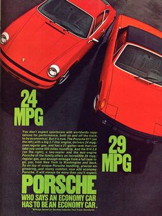 Photo :: ad porsche red 914 911 mpg