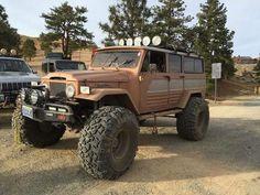 Beast! On Unimog Axles with aftermarket fenders. Toyota Land Cruiser FJ45LV.: