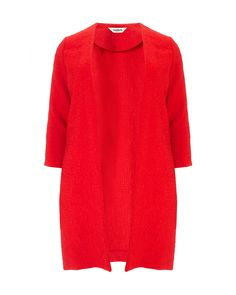 Studio 8 plus size martha red coat Coatigan, Red Cardigan, Plus Size Tops, Stylish Outfits, High Neck Dress, Dresses For Work, Sleeves, Studio, Kingston