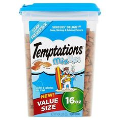 TEMPTATIONS MixUps Cat Treats (Tuna, Shrimp, Salmon, 16 oz. - Pack of 6) -- Click image to review more details. (This is an affiliate link and I receive a commission for the sales)