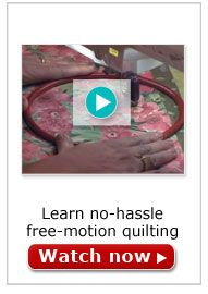Free-motion Quilting Video