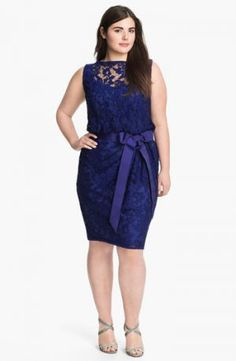 plus lace dress ribbon