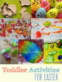 Try one of these amazing toddler activities for Easter and have tons of fun with your toddlers with Easter egg hunts, learning activities and more. Easter Crafts For Toddlers, Fun Activities For Toddlers, Spring Activities, Toddler Crafts, Crafts For Kids, Easter Ideas, Snow Activities, Easter Printables, Toddler Fun