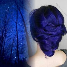 {#VPInspiration} Amazing dark blue color by @taylorrae_hair