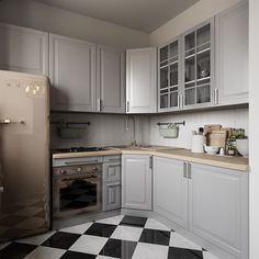 Кухня. Интерьер квартиры 40 кв.м. в Мурманске