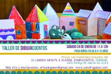 Taller Dibujacuentos en Zampacontos Librería, Ourense obradoiro infantil