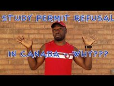 STUDY PERMIT REFUSAL IN CANADA - WHY??? Migrate To Canada, Study, Youtube, Studio, Investigations, Studying, Learning, Research, Youtubers