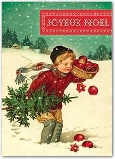 Joyeux Noel by Cartolina Cards: Modern Paper Goods, Vintage style card