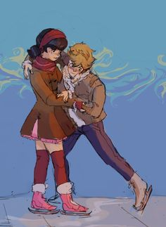 """ethicaltea: """" this is what a cat on skates looks like, thank god for Marinette """" Ladybug Y Cat Noir, Miraclous Ladybug, Ladybug Comics, Miraculous Ladybug Wallpaper, Miraculous Ladybug Fan Art, Lady Bug, Mlb, Marinette And Adrien, Animation"""