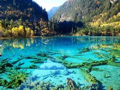 JiuZhaiGou Valley in Jiu Zhai Gou,China