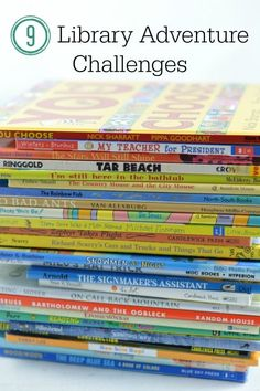 A fun summer reading idea to discover new books at the library.  Take the library adventure challenge.  Includes a free printable to track your reading progress!