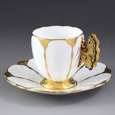 Aynsley butterfly handle demitasse