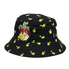 Nintendo Pokemon Pikachu All Over Bucket Hat Nintendo Pokemon 7a5cca1b7b46