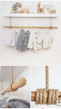 Shelf clothes rail for baby things in the nursery Just Like .- Regal Kleiderstange für Babysachen im Kinderzimmer Just Like Hannah Regal clothes rail for baby things in the nursery Just Like Hannah – – -