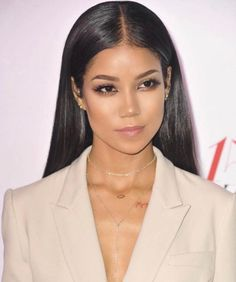 Hairstyle for grad shoot Slick straight shiny middle part look. Hairstyle for grad shoot Slick straight shiny middle part look. Jhene Aiko, Slick Hairstyles, Straight Hairstyles, Prom Hairstyles, Slick Straight Hair, Middle Part Hairstyles, Slicked Back Hair, Celebs, Celebrities