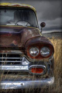 Vintage Trucks Chevy Photograph - Sad Suburban by Michael Morse - Vintage Chevy Trucks, Old Pickup Trucks, Classic Chevy Trucks, Vintage Cars, Antique Cars, Classic Cars, 4x4 Trucks, Chevy Classic, Farm Trucks