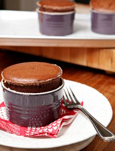 Indulge this Valentine's Day with these dense, rich Dark Chocolate Soufflés! Easy to make and easier to eat, this dessert is a great way to share your love!