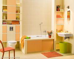 Pomaraczowa łazienka / orange bathroom