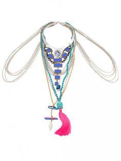 The Siren's Body Piece Tassel Necklace, Turquoise Necklace, Vanessa Mooney, Sirens, Jewelry, Fashion, Moda, Mermaids, Jewlery