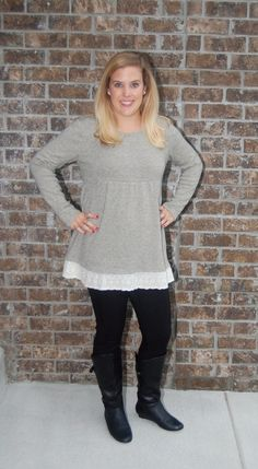 Baby Doll Grey Sweater