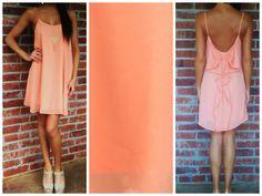 Orange Bow Summer Dress  www.andyboutique.com