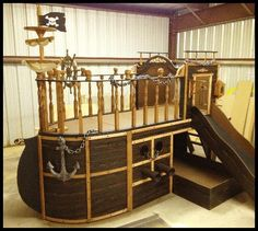 Pirate ship bed on pinterest pirate bedroom boat beds and beds