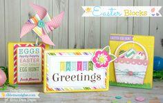 Wood Easter Blocks. #americana #decoart