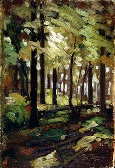 Tom Thomson Catalogue Raisonné   Forest Interior, 1912 (1912.06)   Catalogue entry