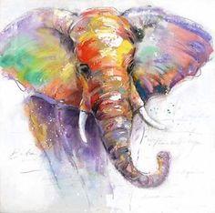 Canvas-Prints-Modern-Home-Decor-Animal-Wall-Art-Picture-Elephant-UNFRAMED