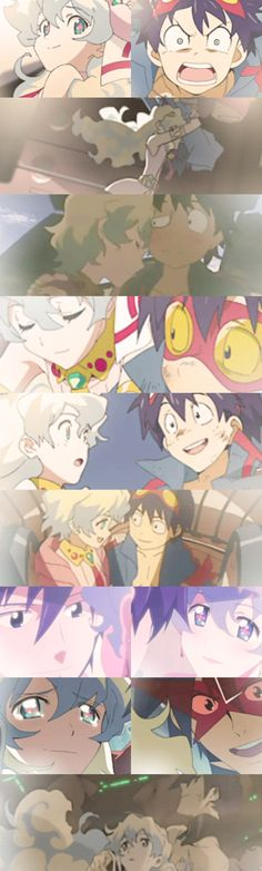 "Gurren Lagann || Simon & Nia ""Nia, I'll never forget you. Even if the universe ends."""