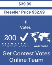 Buy 200 IP/Single Click Votes at $32.99 Votes from different USA IP Address Bulk Votes Available. Different Country IP address available. www.getcontestvot... #buyonlinevotes #buycontestvotes #buyfacebookvotes #getonlinevotes #getcontestvotes #buyvotesforonlinecontest #buyipvotes #getbulkvotes