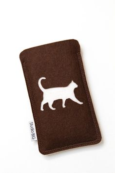 CAT phone case customized felt cell phone cover by StudioBIG